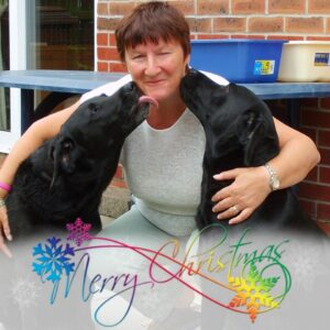 Here is Denise with Her Beloved Labs